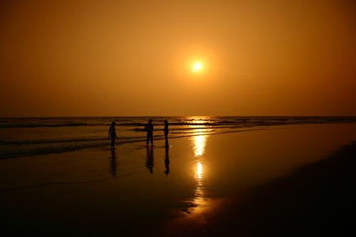 Morjim-Beach-Goa-Sunset