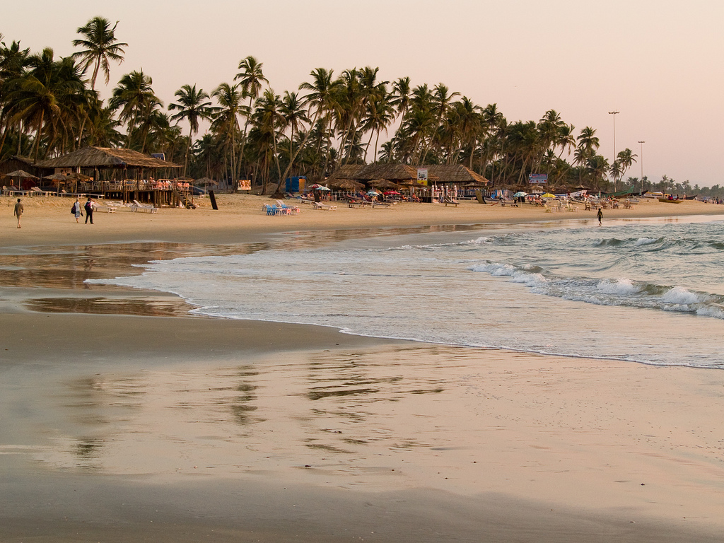 Colva village near Colva Beach in Goa: best beaches