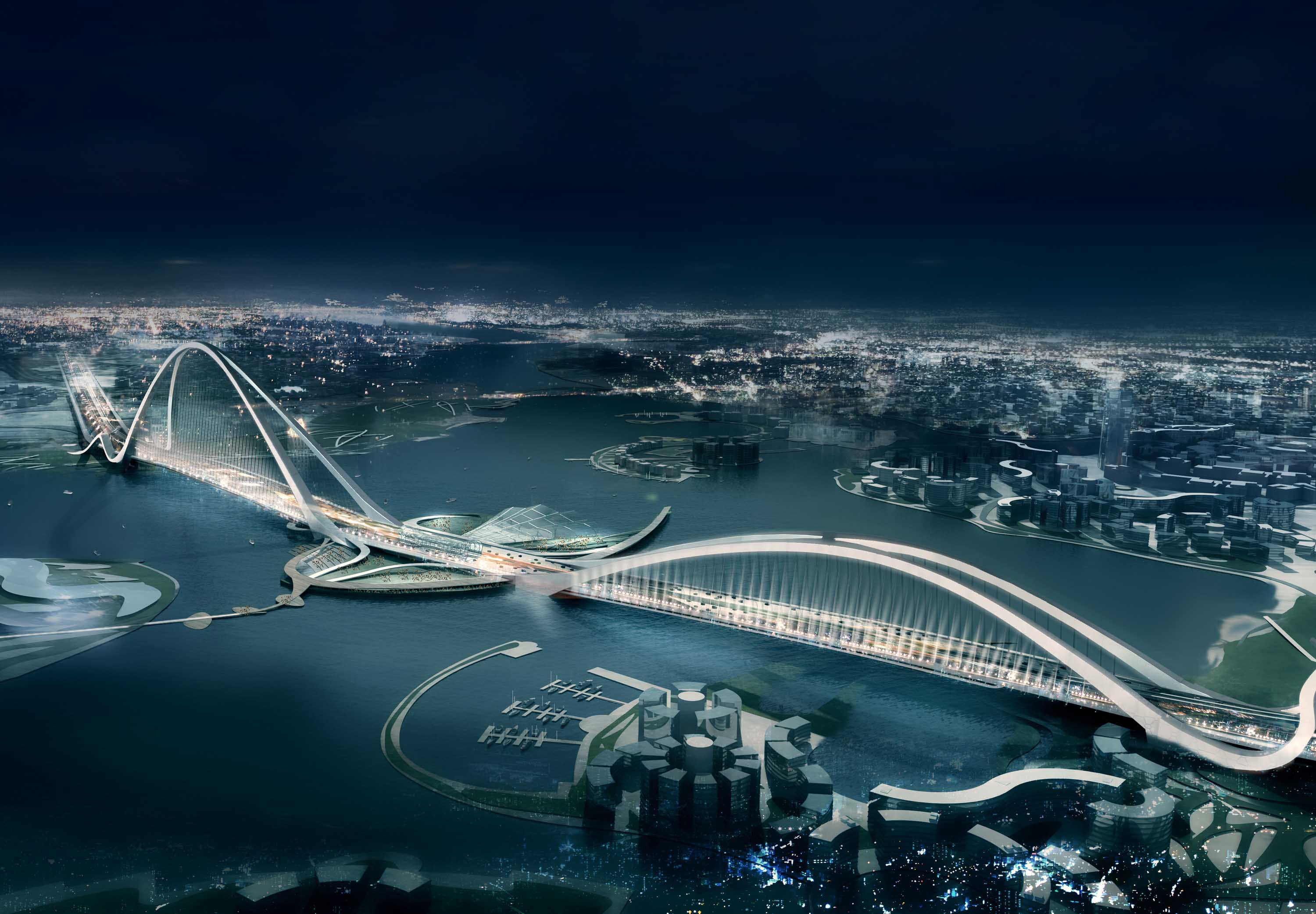 7 Buildings of the Future in Dubai Sheikh Rashid bin Saeed Crossing dubai