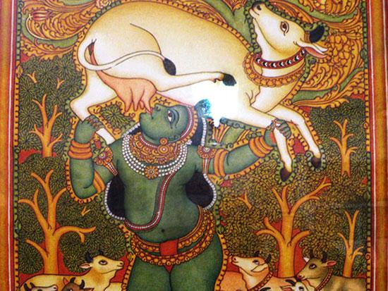 Institute of mural paintings tourmet for Asha mural painting guruvayur